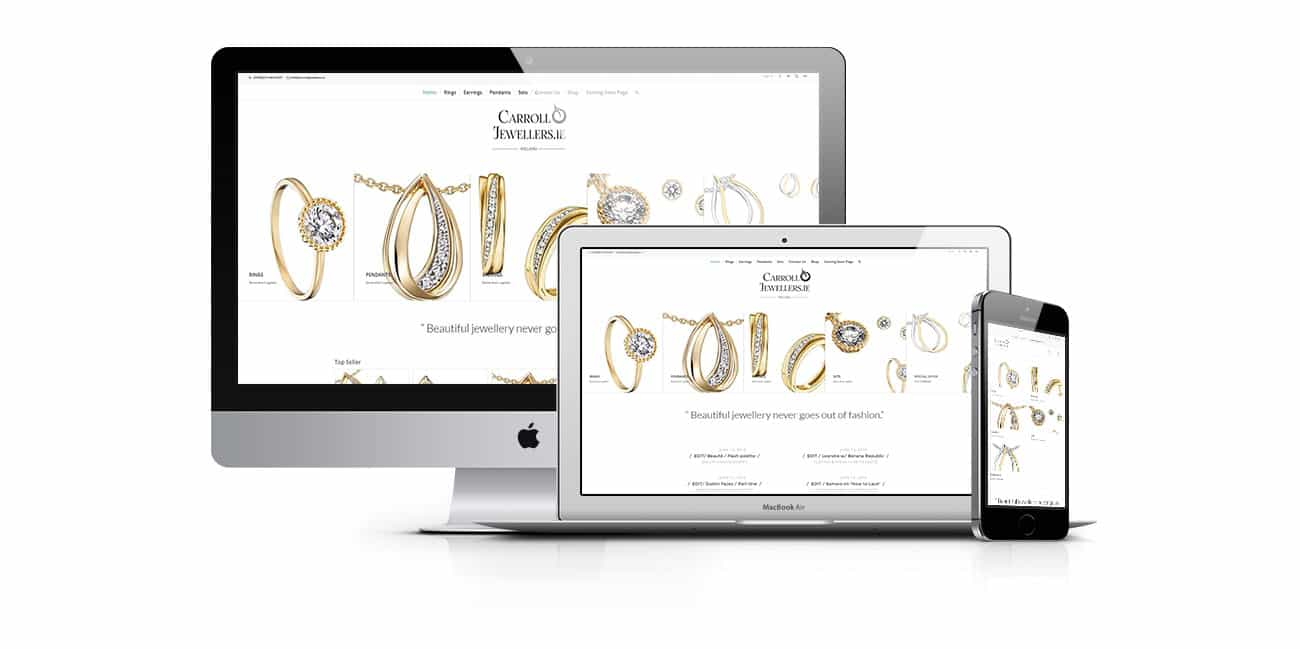jewelry website design