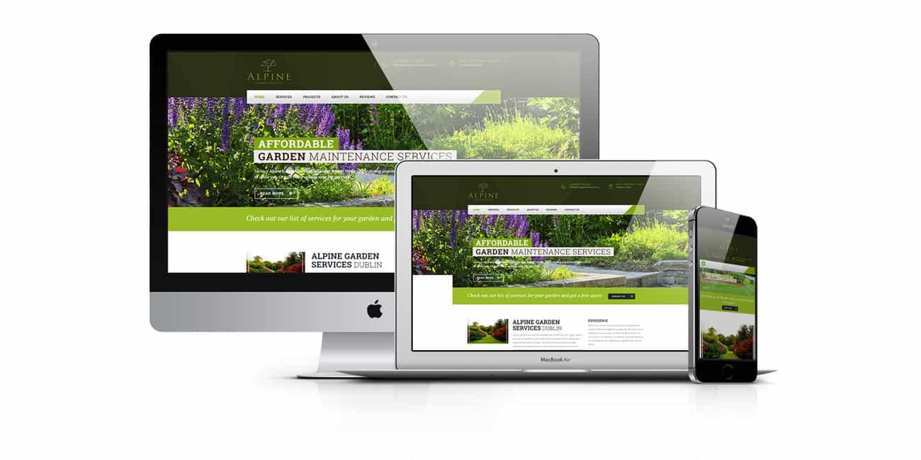 gardener website design