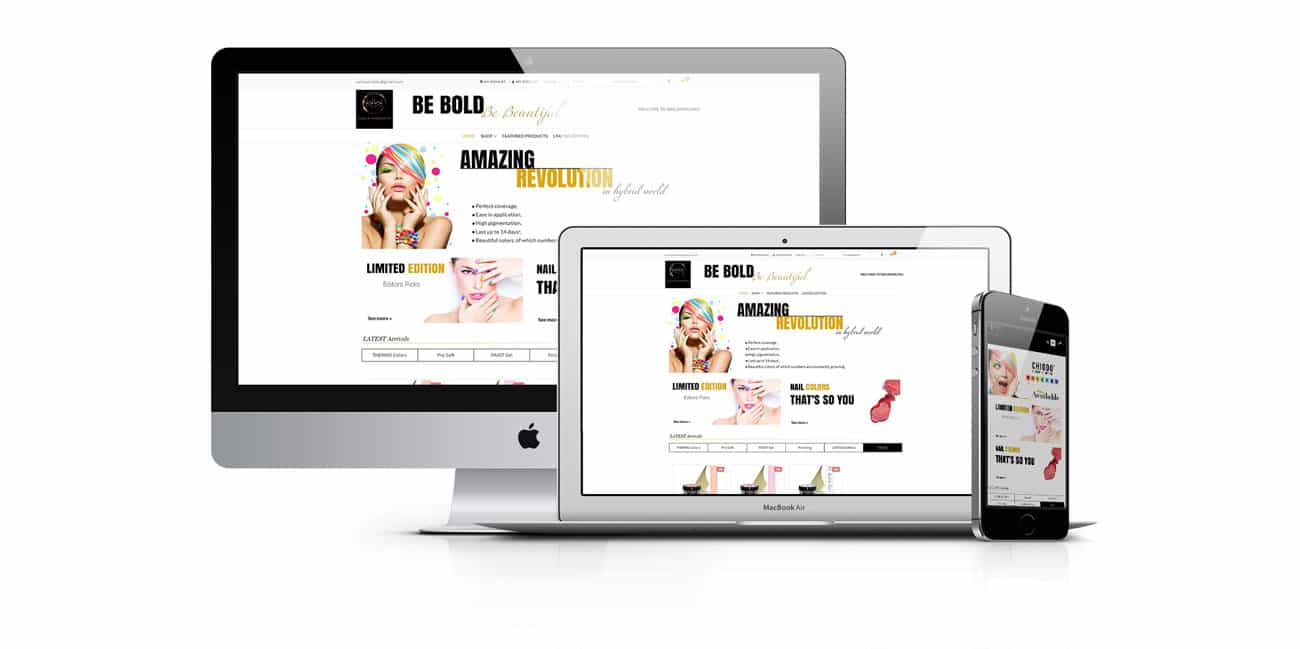 nail accessories website design