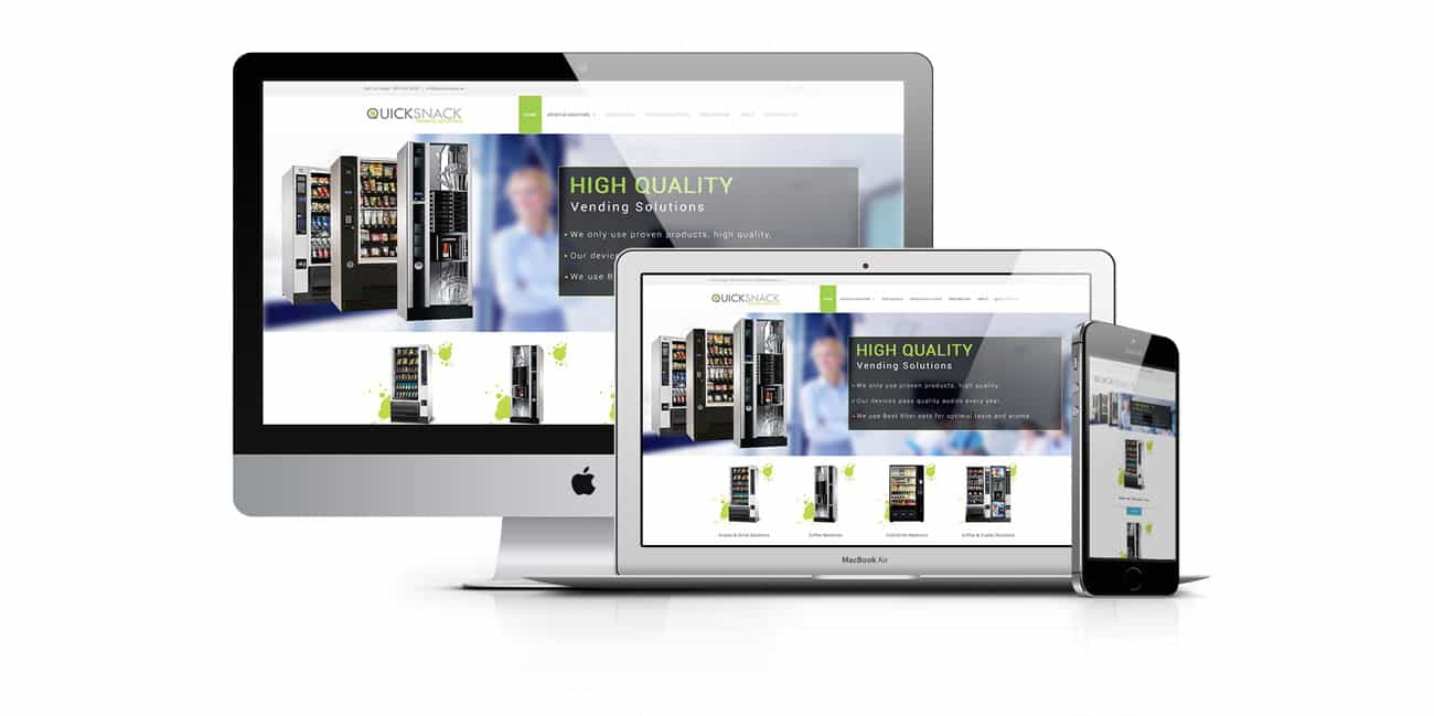 vending solutions website design
