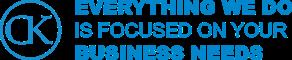 ck website design dublin blue logo on web design ladning page