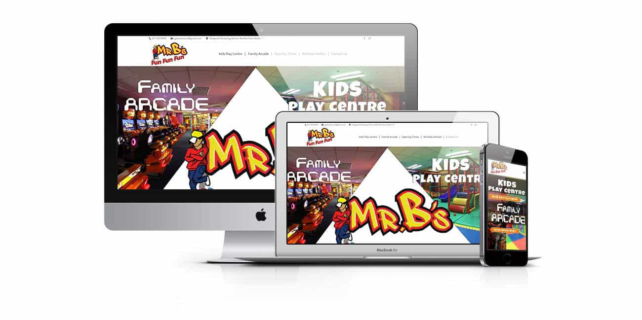 web design for Mrbs, Entertainment provider