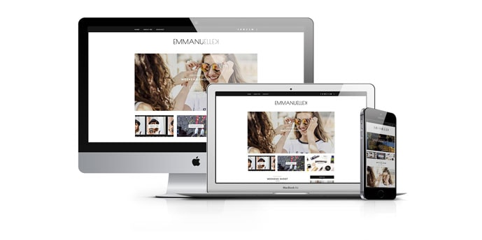 Web Design for Emmanuellekus.com - Best Fashion Blof, Dublin, Ireland