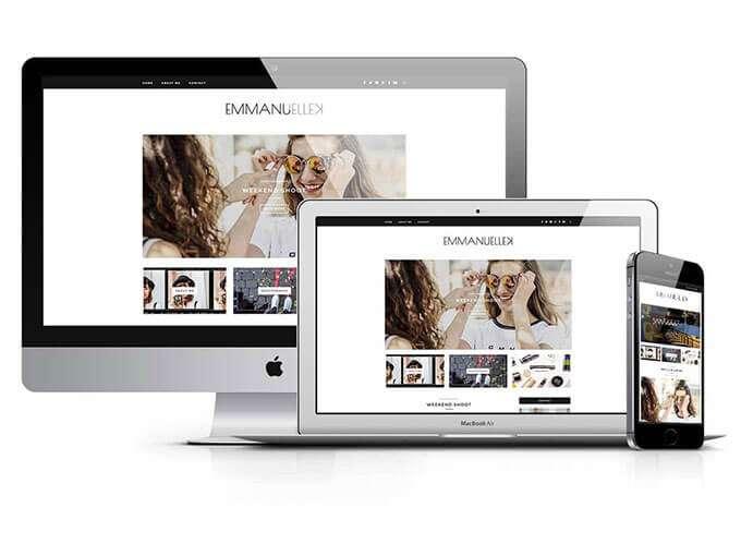 website design for emmanuellekus.com