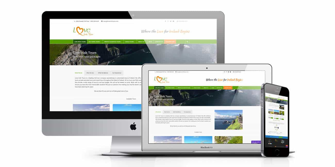 Web Design for Loveirishtours