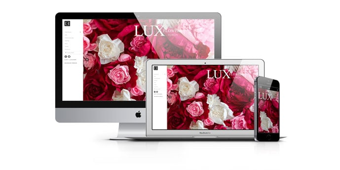Web Design Ireland for  LuxFlowers