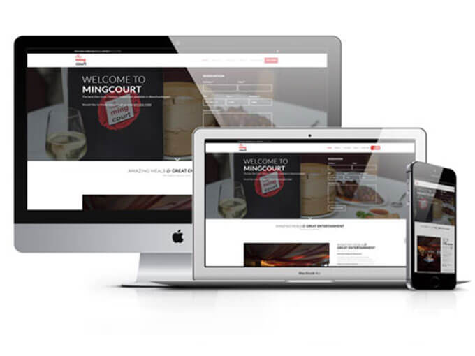 restaurant website design mingcourt website screenshot