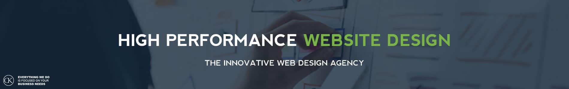 high performance website design by CK web design dublin - featured image