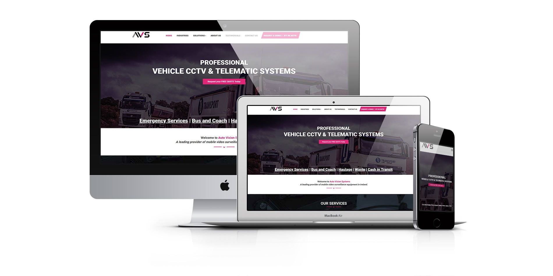 Auto Vision Systems website design project done by ck website design dublin