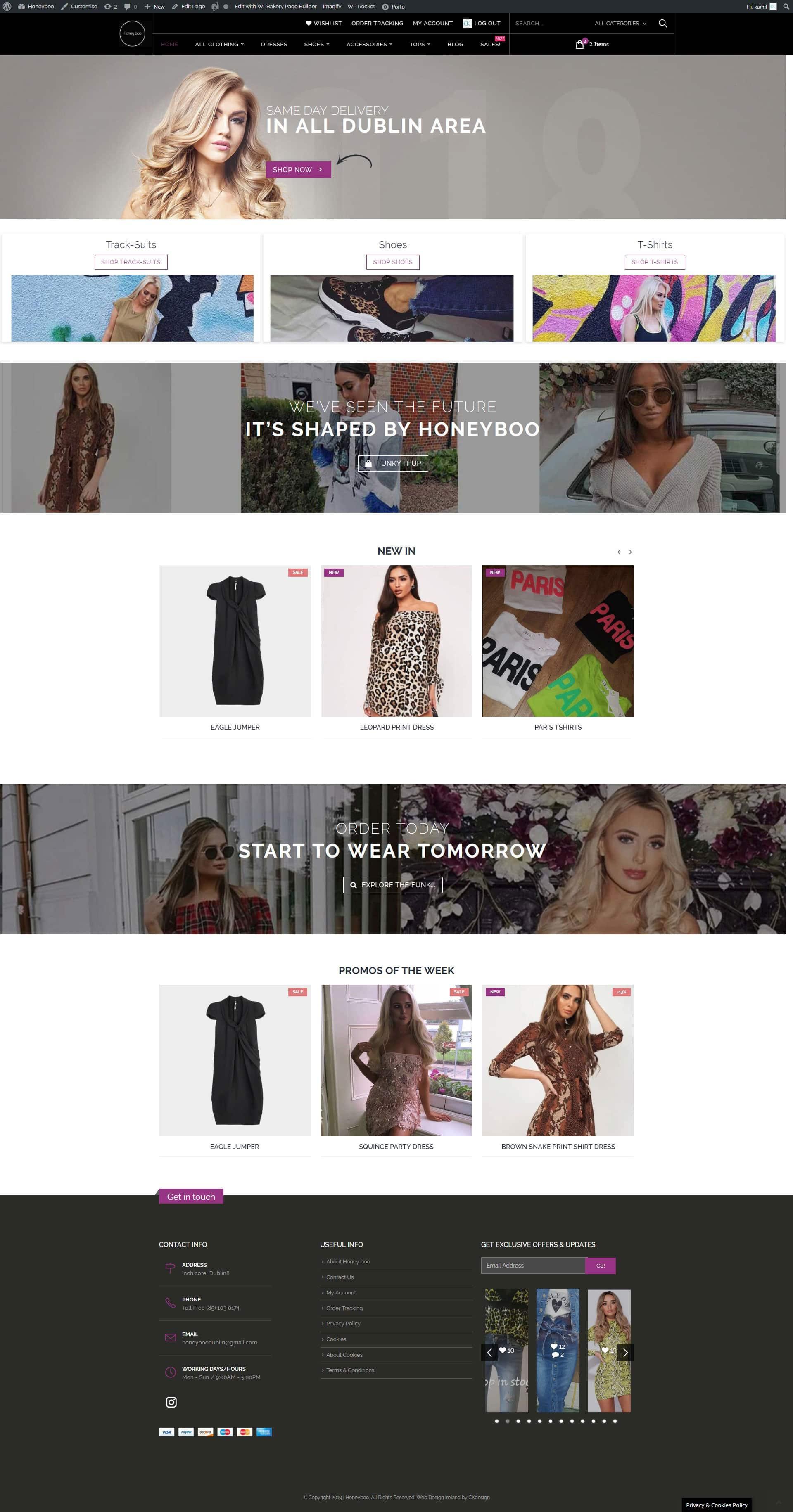 website design Dublin website design of honeyboo by ckwebsitedesign