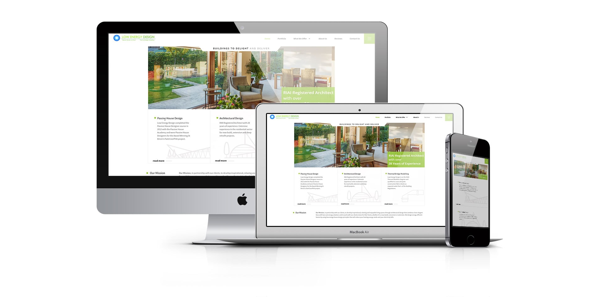 website design for low energu design ireland - website featured image