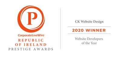 Prestige Award of Republic of Ireland Website Developers of the year 2020