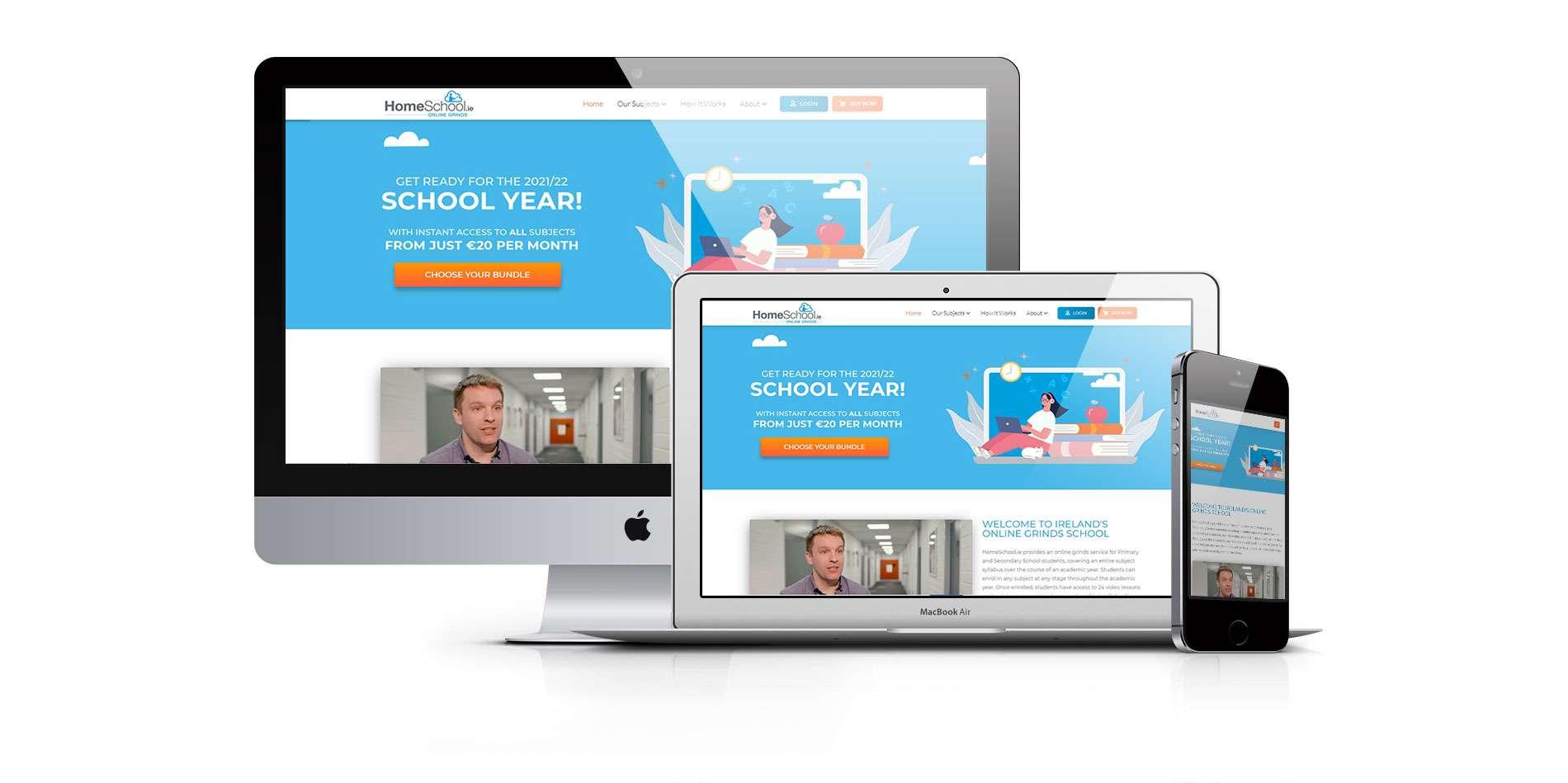 website design Dublin of homeschool ireland